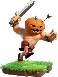 Pumpkin Barbarian - Clash of Clans
