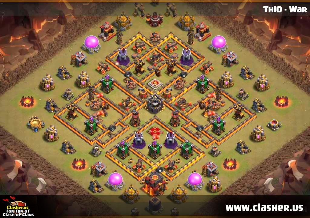 Coc Th 13 War Base 1