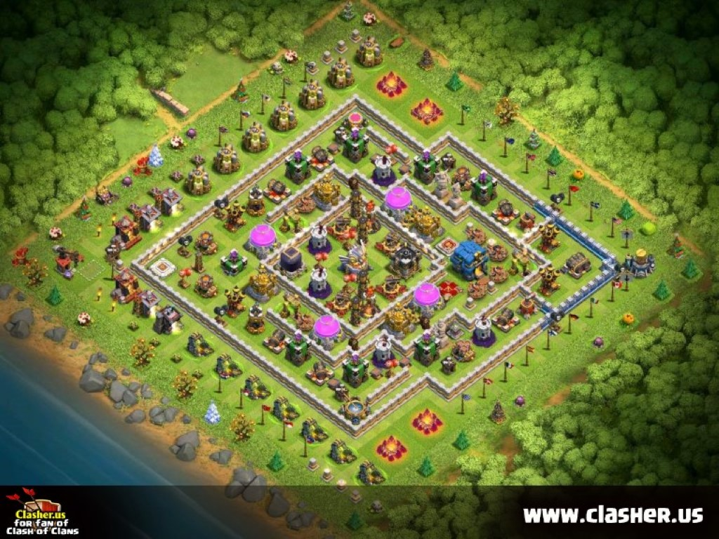 Town Hall 12 - FARMING Base Map #1 - Clash of Clans | Clasher us