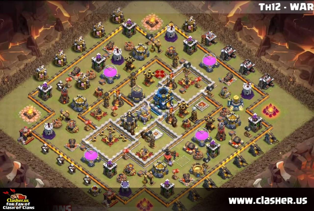 Base Coc Th 12 Untuk War 6