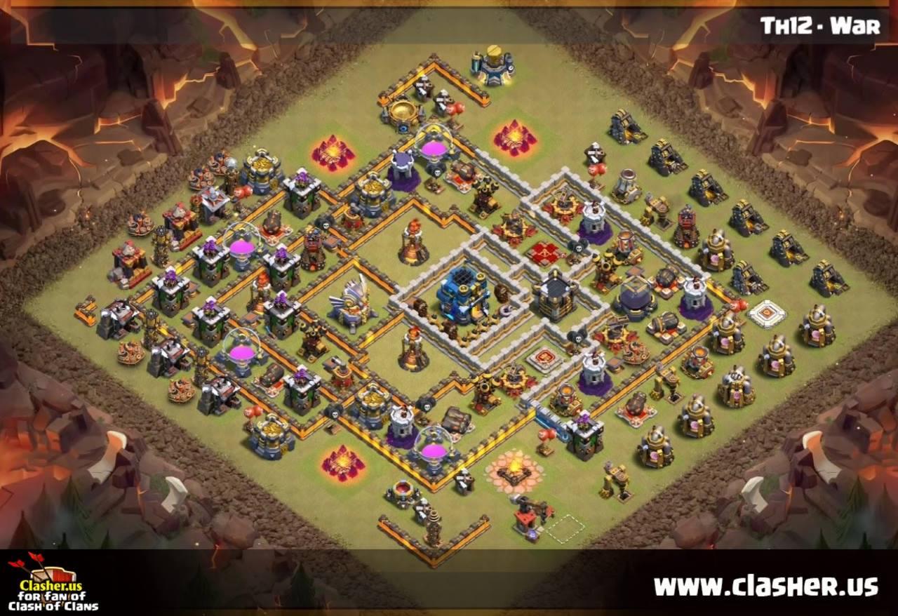 Armouredvehicleslatinamerica : These Clash Of Clans Square Base Th12