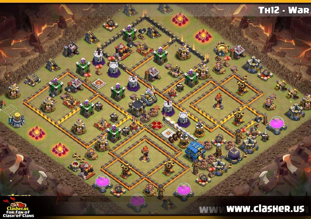 Th12 War Base Base Coc Th 12 2