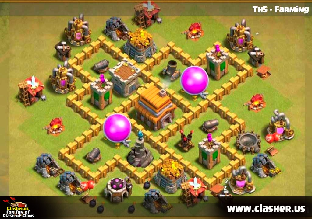 Town Hall 5 - FARMING Base Map #2 - Clash of Clans   Clasher.us Map Clash Of Clans on dragon's dogma map, planetside 2 map, five nights at freddy's map, battlefield: bad company 2 map, clash clans minecraft, clash of calns, clash clans bases, league of legends map, grand theft auto iii map, clash of clan crystal, clash clans best, grand theft auto: san andreas map, far cry 3 map, clash of craft, boom beach map,