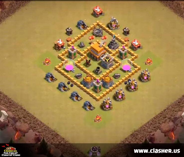 Base Coc Th 5 War 10