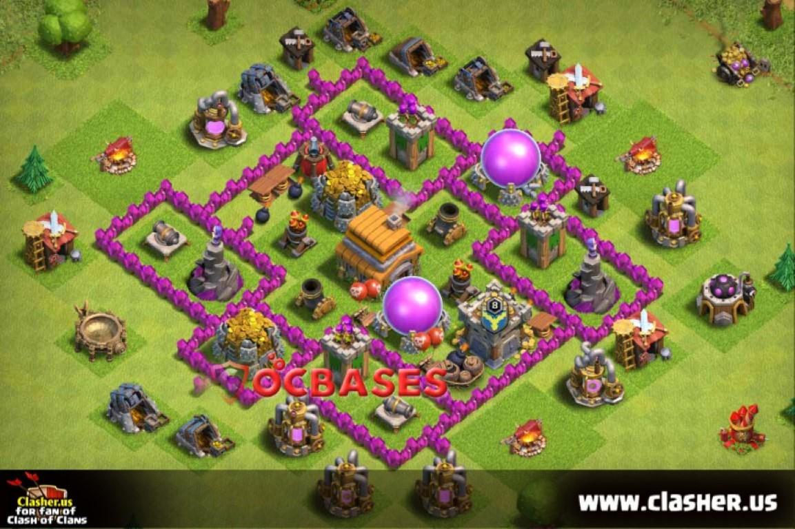 Town Hall 6 - FARMING Base Map #8 ...