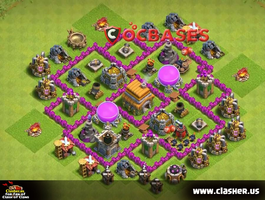 Top Coc Th 6 Base 2