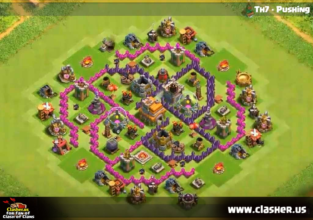 Town Hall 7 Hybrid Base Map 19 Clash Of Clans Clasher Us