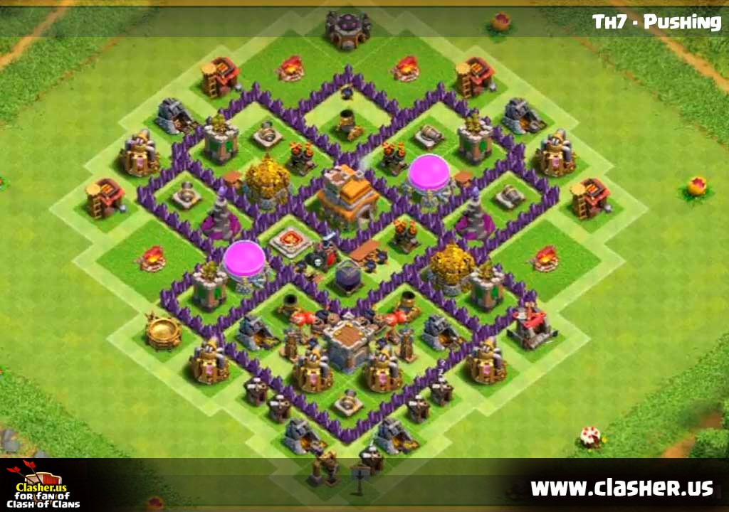 Town Hall 7 Trophy Base Map 11 Clash Of Clans Clasher Us