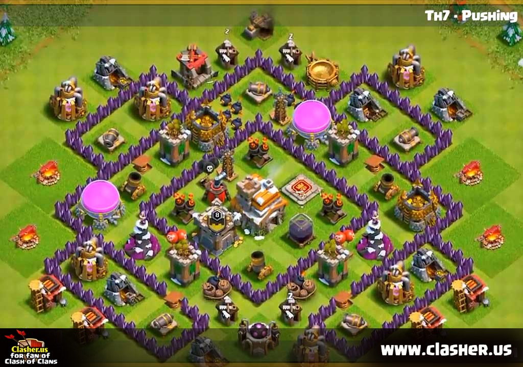 Town Hall 7 Trophy Base Map 31 Clash Of Clans Clasher Us