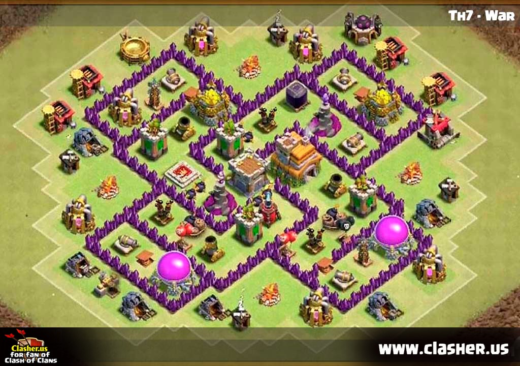 Town Hall 7 War Base Map 14 Clash Of Clans Clasher Us