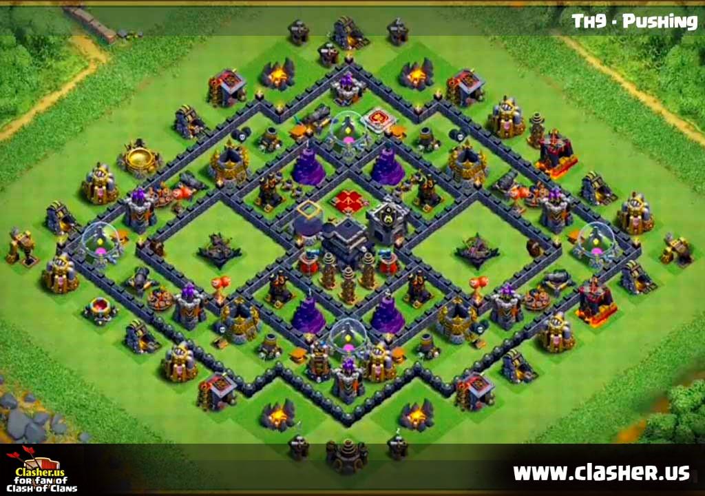 Base Coc Th 9 Trophy 11