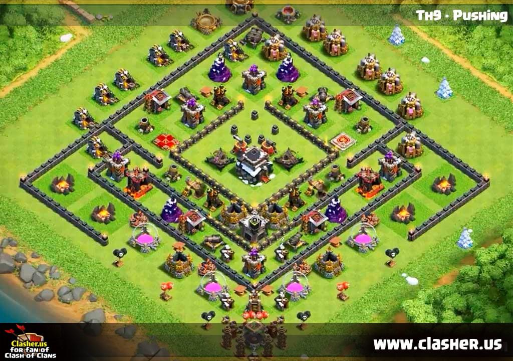 Base Coc Th 9 Trophy 2